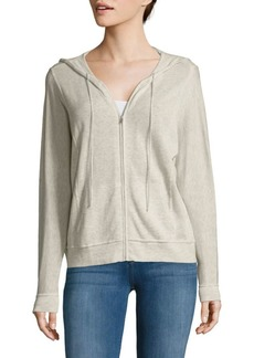 Autumn Cashmere Full-Zip Cotton Hoodie
