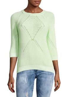 Autumn Cashmere Hi-Lo Cotton Sweater
