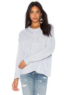 Autumn Cashmere Honeycomb Stitch Crew Sweater