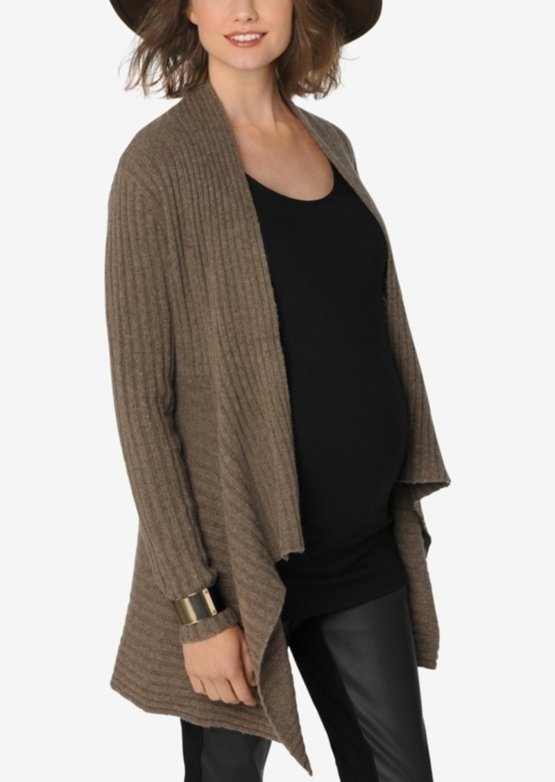 Autumn Cashmere Autumn Cashmere Maternity Open-Front Cardigan ...