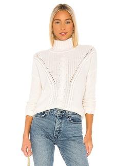 Autumn Cashmere Mock Neck Cable Stitch Sweater