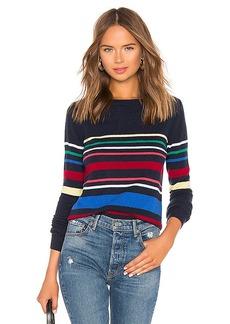 Autumn Cashmere Multi Stripe Boatneck Sweater