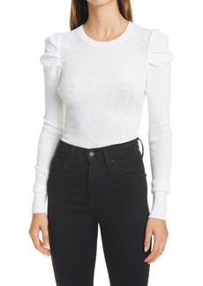 autumn cashmere Pointelle Puff Sleeve Top