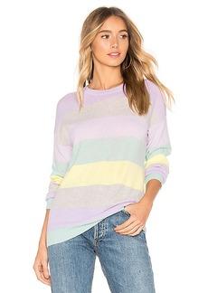 Autumn Cashmere Rainbow Stripe Boyfriend Sweater