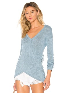 Autumn Cashmere Reversible Sweater with Tassels