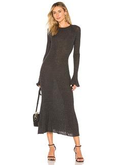Autumn Cashmere Rib Bell Sleeve Dress