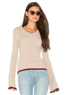 Autumn Cashmere Ribbed Bell Sleeve Sweater