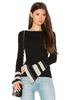 Autumn Cashmere Ribbed Pleat Cuff Sweater