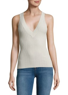 Autumn Cashmere Ribbed Sleeveless Top