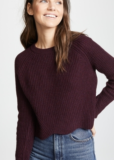 Autumn Cashmere Scallop Shaker Cashmere Sweater