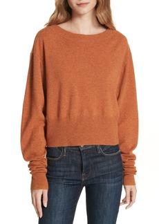 autumn cashmere Scrunch Sleeve Cashmere Sweater