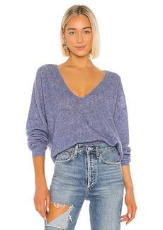 Autumn Cashmere Shaker Stitch Deep Boyfriend V Sweater