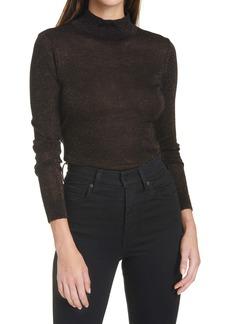 autumn cashmere Shimmer Mock Neck Sweater