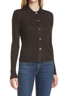 autumn cashmere Shimmer Rib Cashmere Blend Cardigan