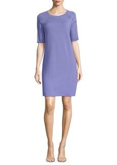 Autumn Cashmere Short-Sleeve Cotton Sheath Dress