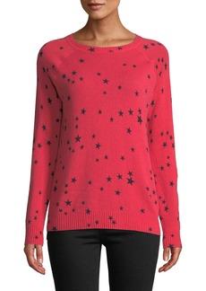 Autumn Cashmere Star-Print Cashmere Crewneck Sweater