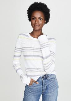Autumn Cashmere Stripe Crew Sweater