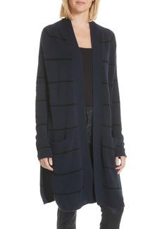autumn cashmere Stripe Longline Cashmere Cardigan