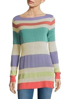 Autumn Cashmere Striped Boatneck Sweater
