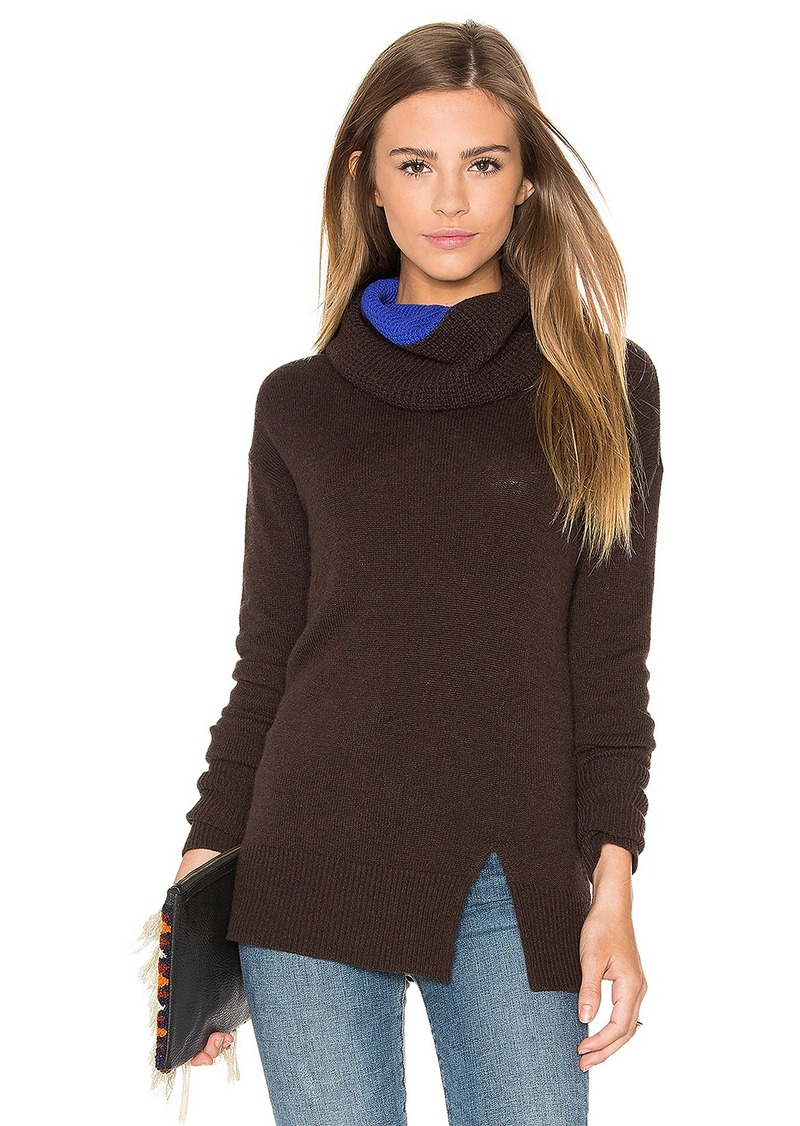 Autumn Cashmere Two Tone Turtleneck Sweater