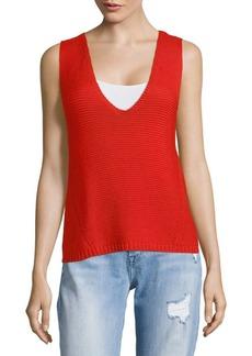 Autumn Cashmere V-Neck Cotton Top