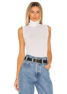 Autumn Cashmere Variegated Rib Sleeveless Turtleneck