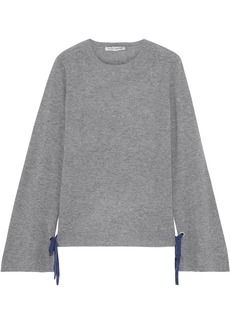 Autumn Cashmere Woman Bow-detailed Cashmere Sweater Gray