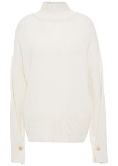 Autumn Cashmere Woman Button-detailed Cashmere Turtleneck Sweater Ivory
