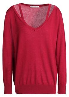 Autumn Cashmere Woman Cutout Cashmere Sweater Crimson