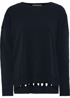 Autumn Cashmere Woman Cutout Knitted Sweater Navy