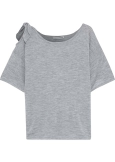 Autumn Cashmere Woman Cutout Knotted Cashmere Top Gray