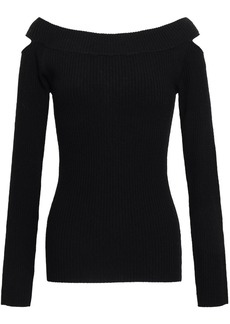 Autumn Cashmere Woman Cutout Merino Wool-blend Sweater Black