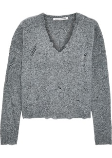 Autumn Cashmere Woman Distressed Cashmere Sweater Gray
