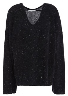 Autumn Cashmere Woman Donegal Cashmere Sweater Black