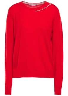 Autumn Cashmere Woman Embroidered Cashmere Sweater Red
