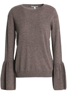 Autumn Cashmere Woman Fluted Mélange Cashmere Sweater Brown