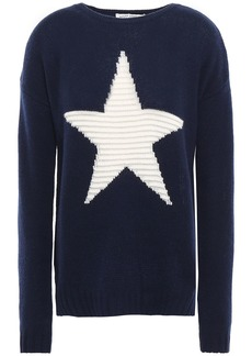 Autumn Cashmere Woman Intarsia Cashmere Sweater Navy