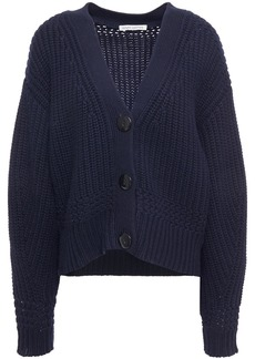 Autumn Cashmere Woman Knitted Cardigan Navy