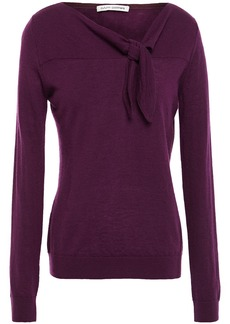 Autumn Cashmere Woman Knotted Cashmere Sweater Grape