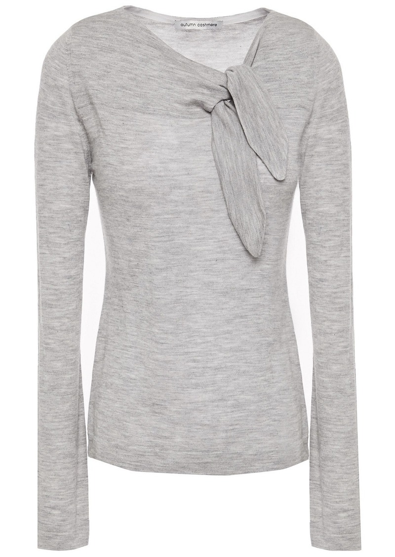 Autumn Cashmere Woman Knotted Cashmere Top Gray