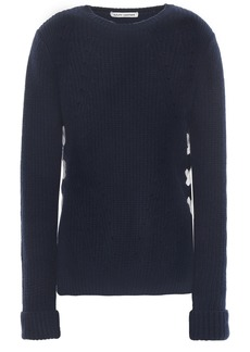 Autumn Cashmere Woman Lace-up Cashmere Sweater Navy