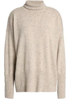 Autumn Cashmere Woman Marled Cashmere Turtleneck Sweater Beige