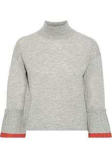 Autumn Cashmere Woman Mélange Cashmere Sweater Gray