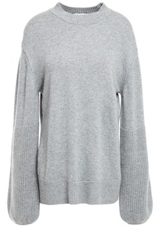 Autumn Cashmere Woman Mélange Knitted Sweater Light Gray