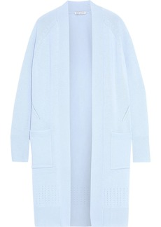 Autumn Cashmere Woman Pointelle-trimmed Cashmere Cardigan Light Blue