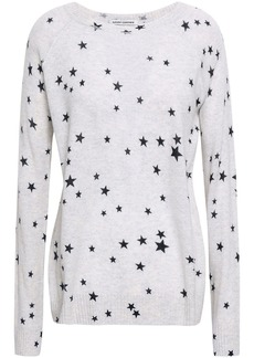 Autumn Cashmere Woman Printed Cashmere Sweater Stone