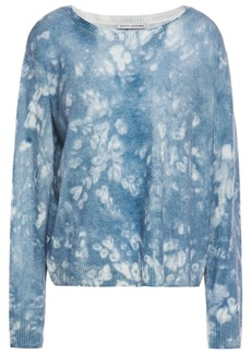 Autumn Cashmere Woman Printed Cashmere Sweater Storm Blue