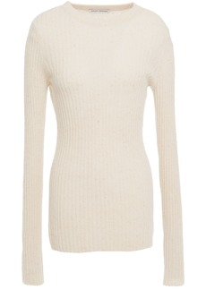Autumn Cashmere Woman Ribbed Cashmere Sweater Beige