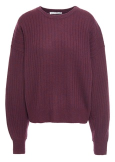Autumn Cashmere Woman Ribbed Cashmere Sweater Plum