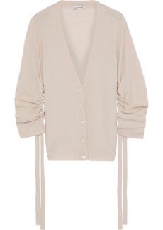 Autumn Cashmere Woman Ruched Cashmere Cardigan Blush